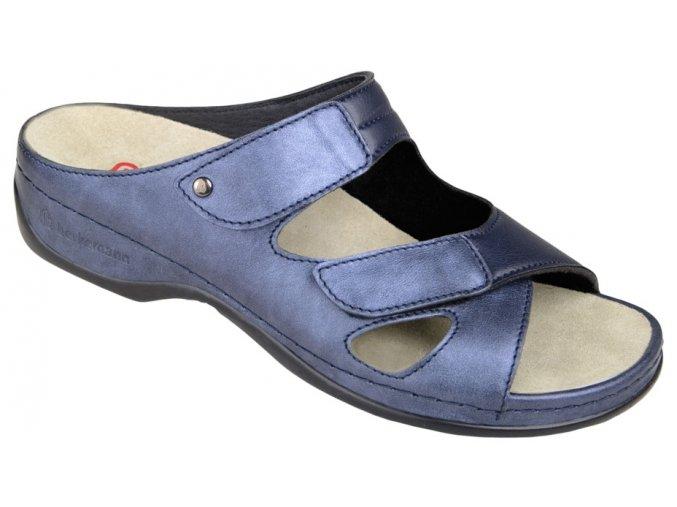 JANNA halluxový pantofel dámský modrý Berkemann