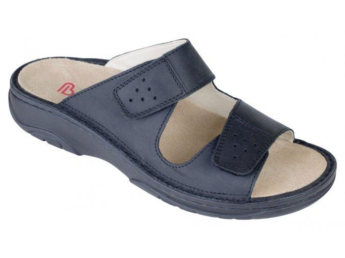 LUIS zdravotní pantofle pánská černá Berkemann