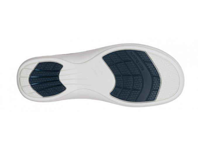 MADRID pracovní kožená pratelná obuv s certifikací unisex s páskem modrá