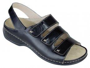 LENA zdravotní sandálek dámský černý Berkemann
