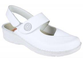 HELENE halluxový sandálek plná špice dámský bílý Berkemann