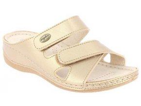 FELICIA zdravotní pantofle dámské zlatavé PodoWell