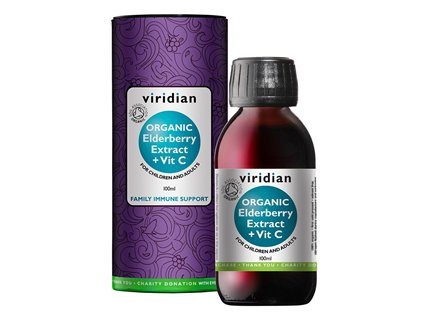 Elderberry Extract + Vitamin C 100ml Organic