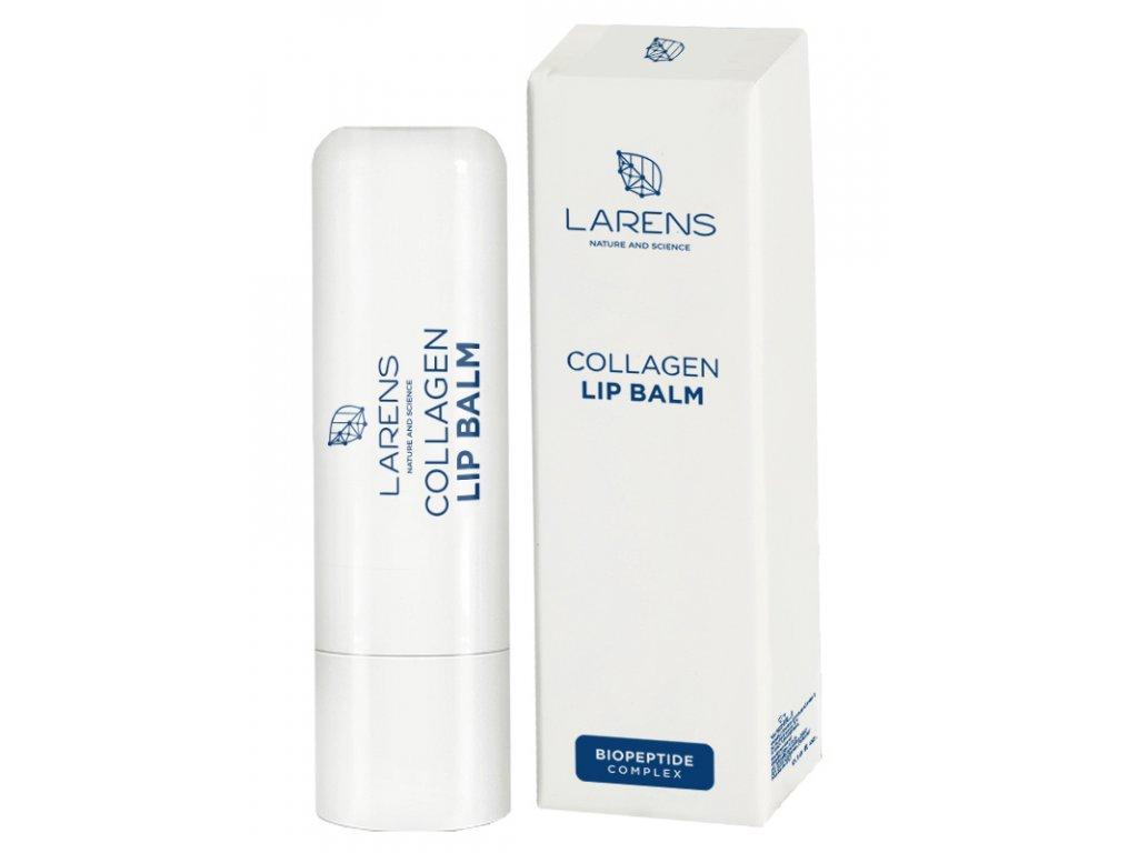 Tyčinka na rty LARENS Collagen Lip Balm 5 g - pro zdravé a hebké rty  pro hladké a hebké rty