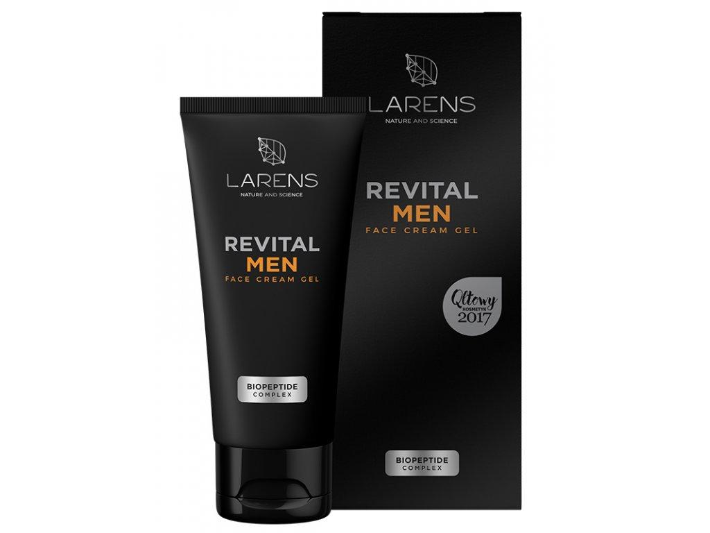 Revital Men Face Cream Gel 50 ml - zklidňuje a hydratuje pokožku  balzám po holení i pleťový krém