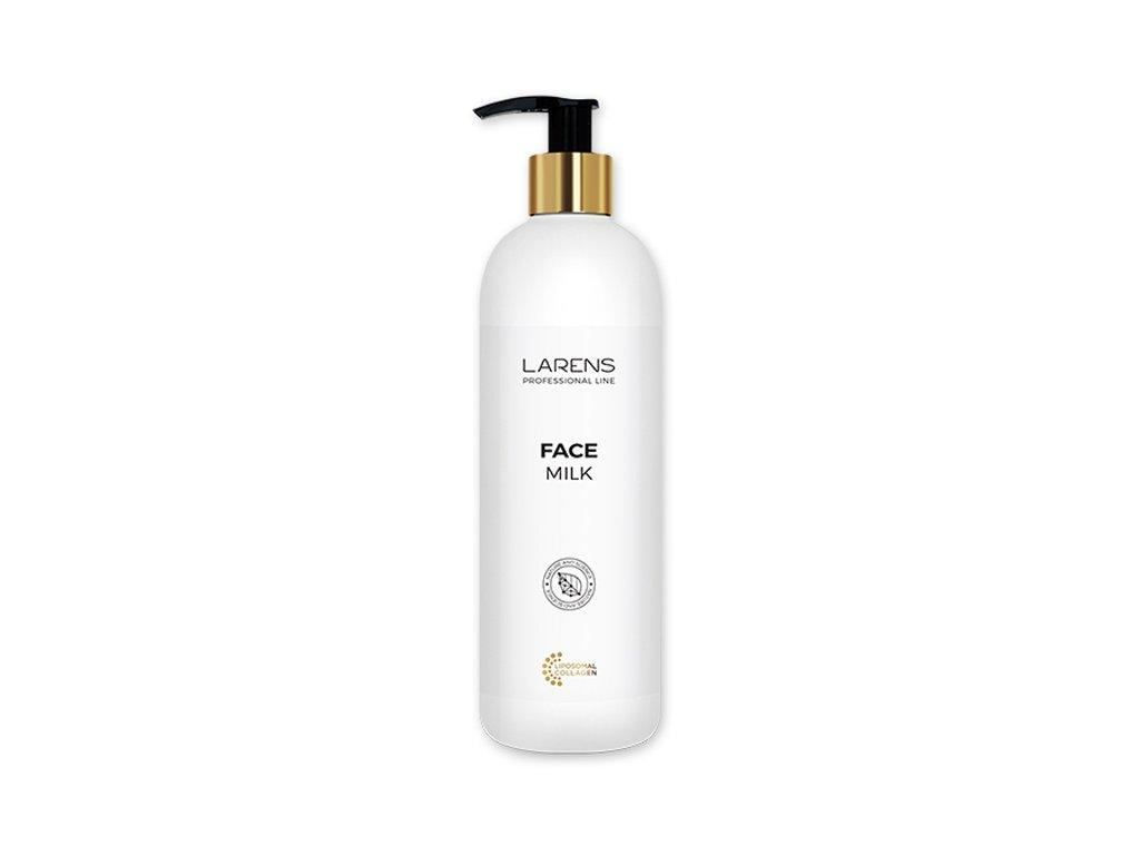 LARENS Face Milk 400 ml - dokonale odstraňuje make-up a nečistoty  jemné pleťové mléko určené k odličování, čištění a ošetřování obličeje