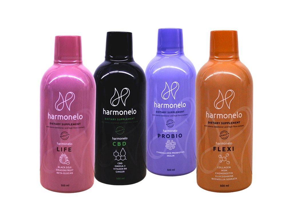 Harmonelo pack - 3+1 , 1 láhev zdarma  nastartujte imunitu a podpořte svůj pohybový aparát