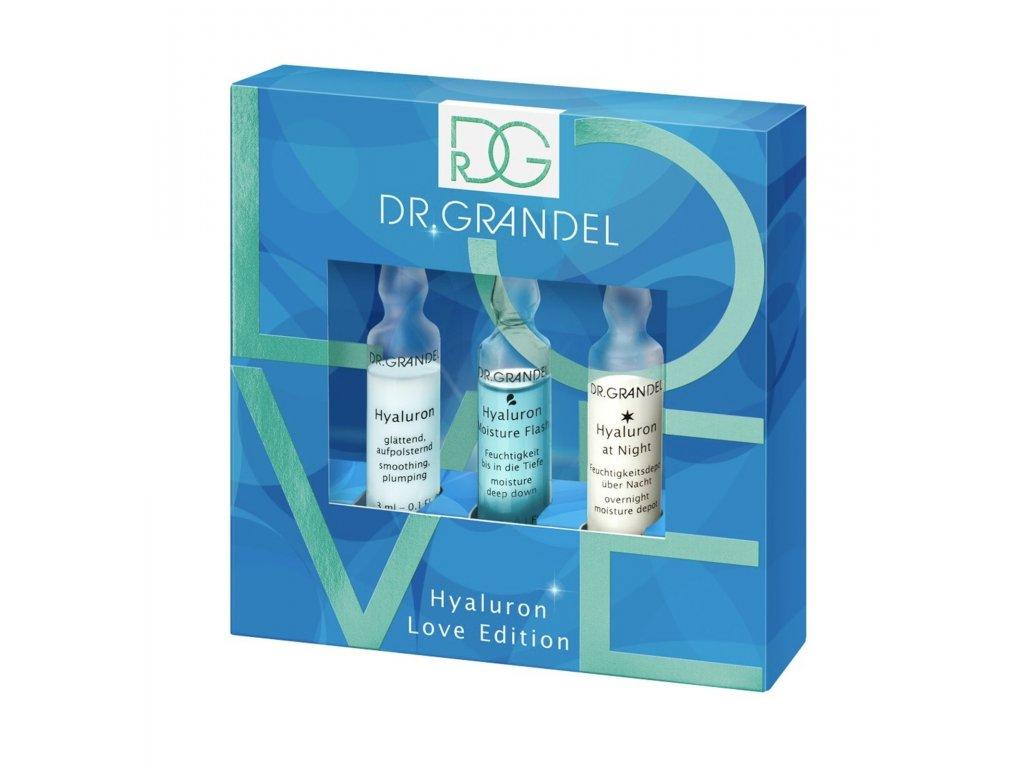 Hyaluron Love Edition 2020 - 3 různé hydratační ampule v jednom balení  aktivní koncentrát pro intenzivní vyplnění vrásek a dlouhotrvající hydrataci