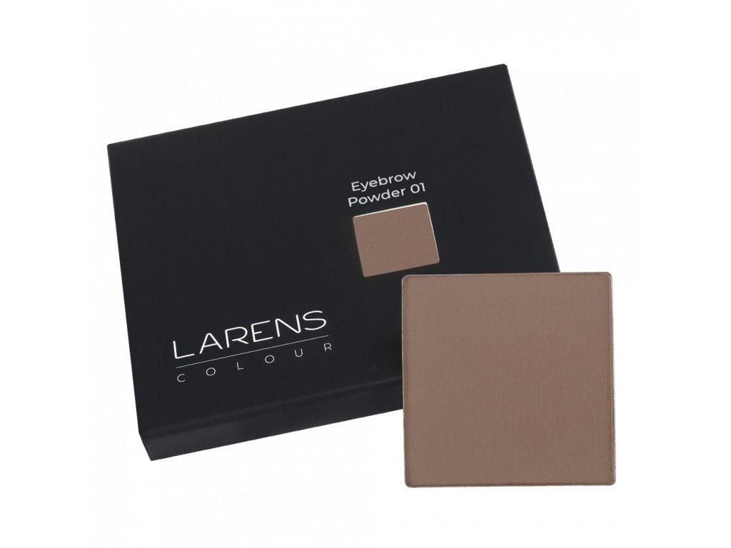 Larens Colour Eyebrow Powder 2,2g - práškové stíny pro úpravu obočí  zdůrazňují, upravují nebo nově definují linii obočí
