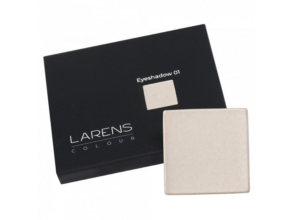 Larens Colour Eyeshadow 2,2g - intenzivní pigmentované oční stíny  poskytují výrazný, ale přirozený efekt a saténový povrch