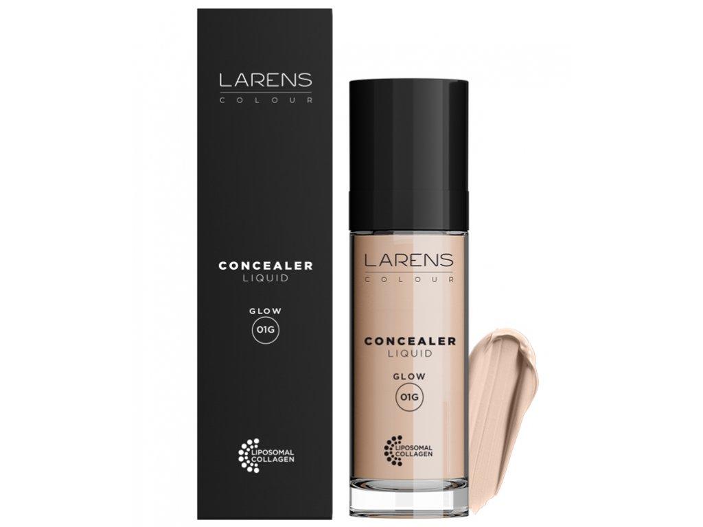 Larens Colour Liquid Concealer Glow 20 ml - pro zakrytí nedokonalostí pleti  rozjasňuje pleť, zesvětluje pokožku pod očima