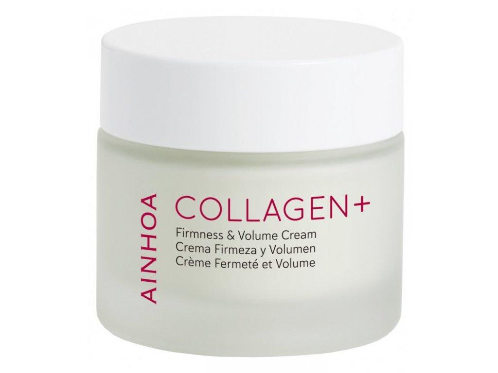 Ainhoa Collagen+ Firmness & Volume Cream 50 ml - vrací pleti objem a elasticitu  zpevňuje kontury obličeje, vypíná a vyhlazuje vrásky a pomáhá zadržet v pleti vodu