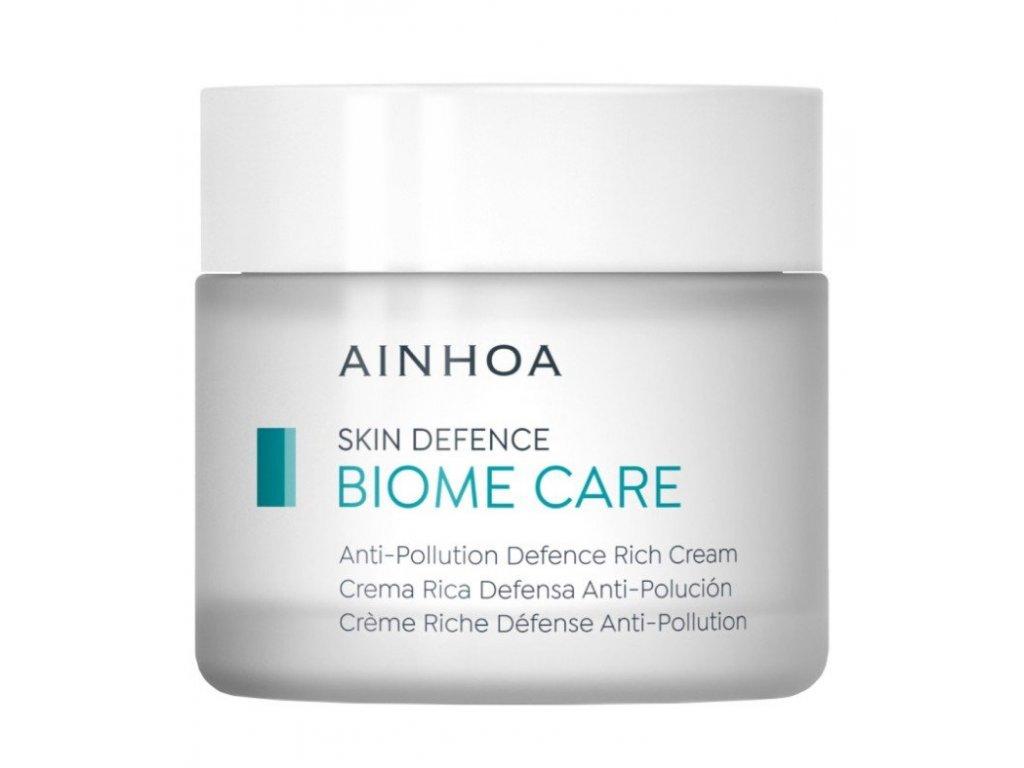 Ainhoa Biome Care Anti-Pollution Defence Rich Cream 50 ml - pro suchou pleť  posiluje pokožku a udržuje v rovnováze její mikroflóru