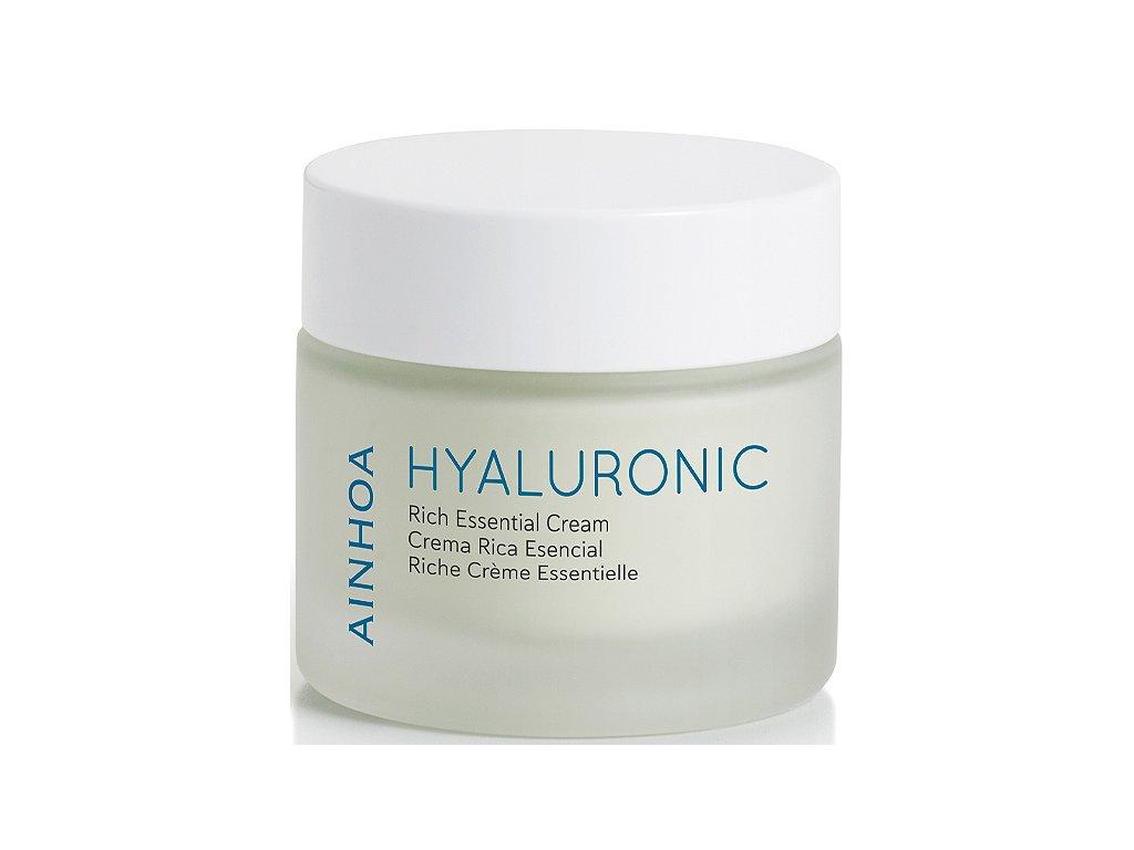 Ainhoa Hyaluronic Rich Essential Cream 50 ml - hydratace pro suchou pleť  kyselina hyaluronová s vysokou hydratační aktivitou a anti-age efektem