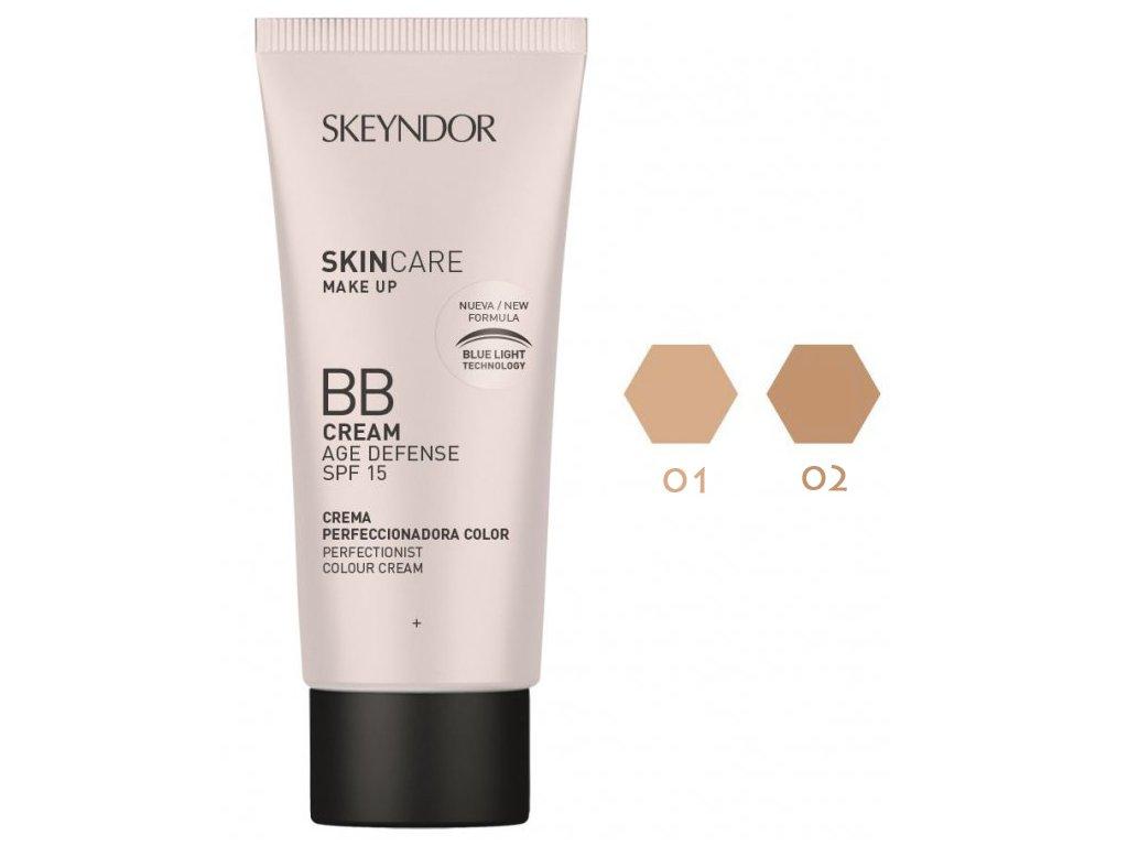 Skincare Make up BB Cream Age Defence SPF15 40 ml - zkrášlí i pečuje  multifunkční tónovací BB krém pro všechny typy pleti