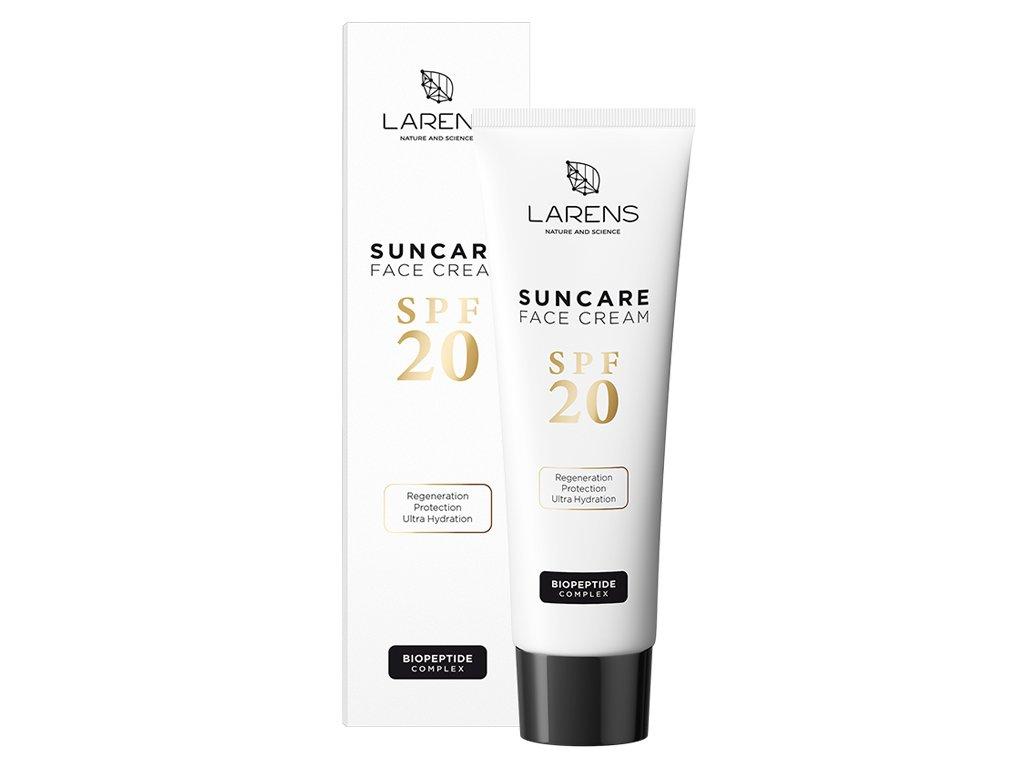 LARENS Suncare Face Cream SPF 20 50 ml - s liftingovým a revitalizačním účinkem  každodenní ochrana před UV zářením a účinná prevence proti fotostárnutí pleti