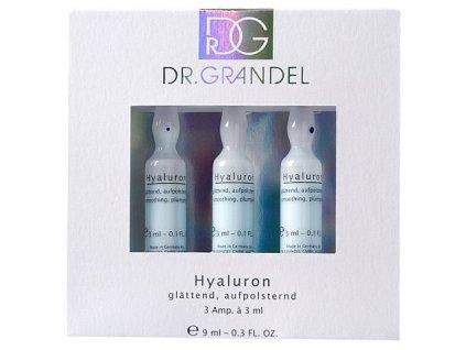 Hyaluron 3x3 ml - vyplňuje suché vrásky  ampule pro lepší, rychlejší a viditelně dlouhotrvající účinek revitalizace pleti