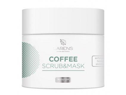 Larens Coffee Scrub & Mask 200 ml - koriguje kontury obličeje  zpevňující a zeštíhlující peelingová maska na obličej a tělo