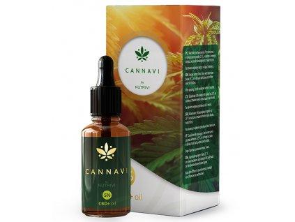 LARENS Cannavi by Nutrivi CBD+Oil 10ml - pro skvělou formu a pohodu organismu  Cannabis sativa - CBD z konopí je hit mezi přírodními léky