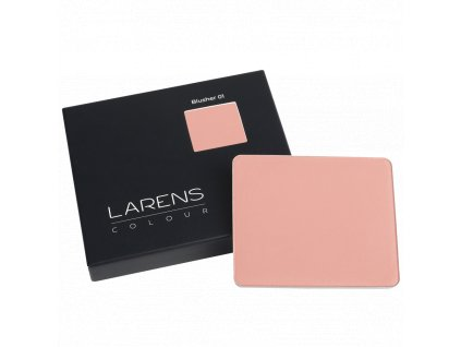 Larens Colour Blusher 8g - matná tvářenka v lehkém práškovém složení  umožňuje postupné nanášení od jemného a přirozeného po intenzivnější krytí