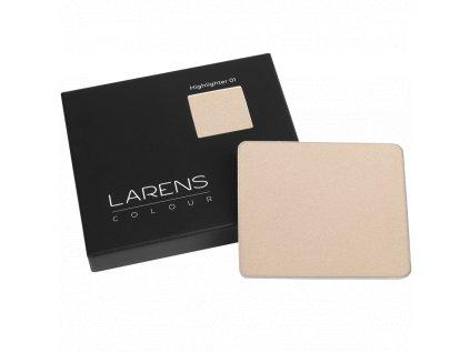 Larens Colour Highlighter 8g - rozjasňovač saténový lisovaný  přirozeně rozjasní váš make-up, zvýrazní hladkost pleti