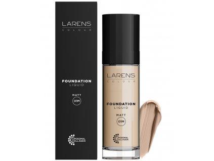 Larens Colour Liquid Foundation Matt 30 ml - make-up s jemným matujícím efektem  odolné složení nevytváří šmouhy, dokonale jednotné zabarvení a udrží se po celý den