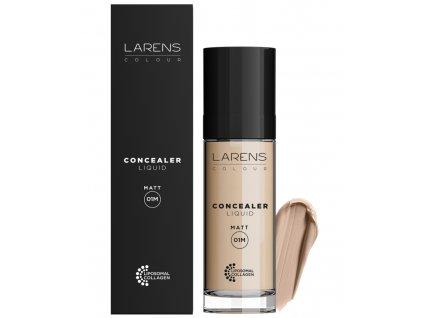 Larens Colour Liquid Concealer Matt 20 ml - kryje nedokonalosti pleti  vyrovnává barevný tón pleti a poskytuje jemný matující efekt