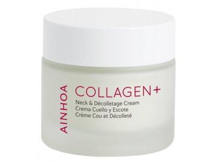 Ainhoa Collagen+ Neck & Décolletage Cream 50 ml - zpevňující krém s kolagenem  speciálně vytvořený pleťový krém pro oblast krku a dekoltu