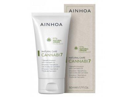 Ainhoa Cannabi7 Emulsion 50 ml - pleťové sérum s konopným olejem  pleť intenzivně vyživuje, hydratuje, regeneruje a chrání před škodlivými vlivy