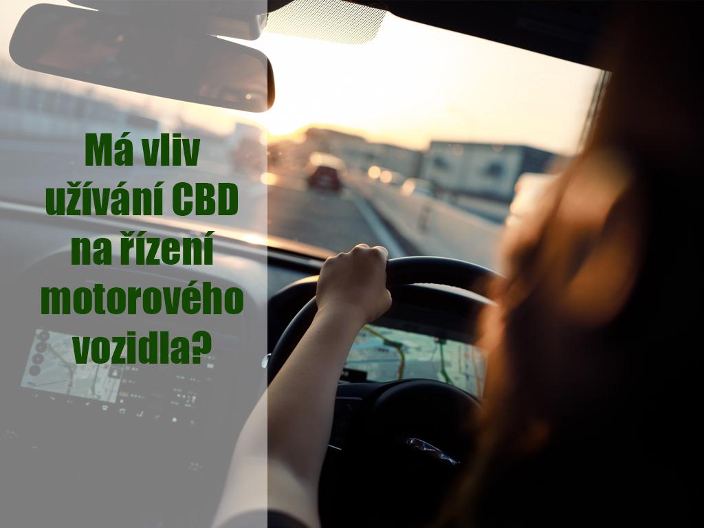 Má vliv užívání CBD na řízení motorového vozidla?