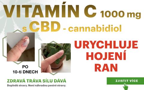 Vitamín C s CBD pomáhá urychlit hojení ran