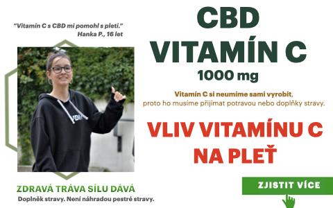 Vitamín C 1000 mg s CBD a účinky na pleť