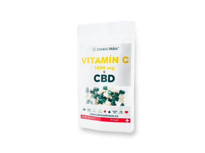 Vitamín C 1000mg s CBD - 30 kapslí