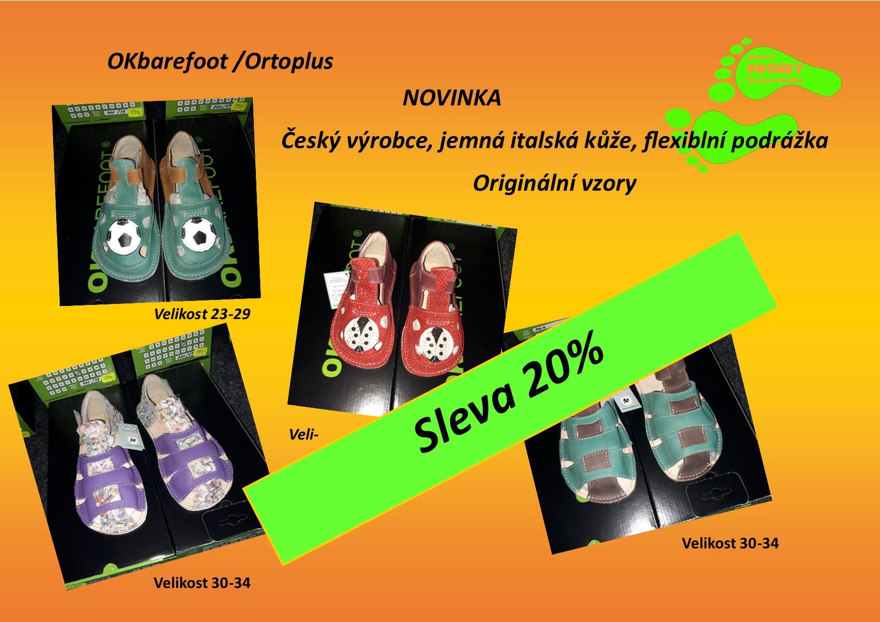 Okbarefoot letní kožené sandálky