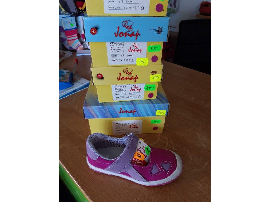 Jonap kožené sandálky růžové