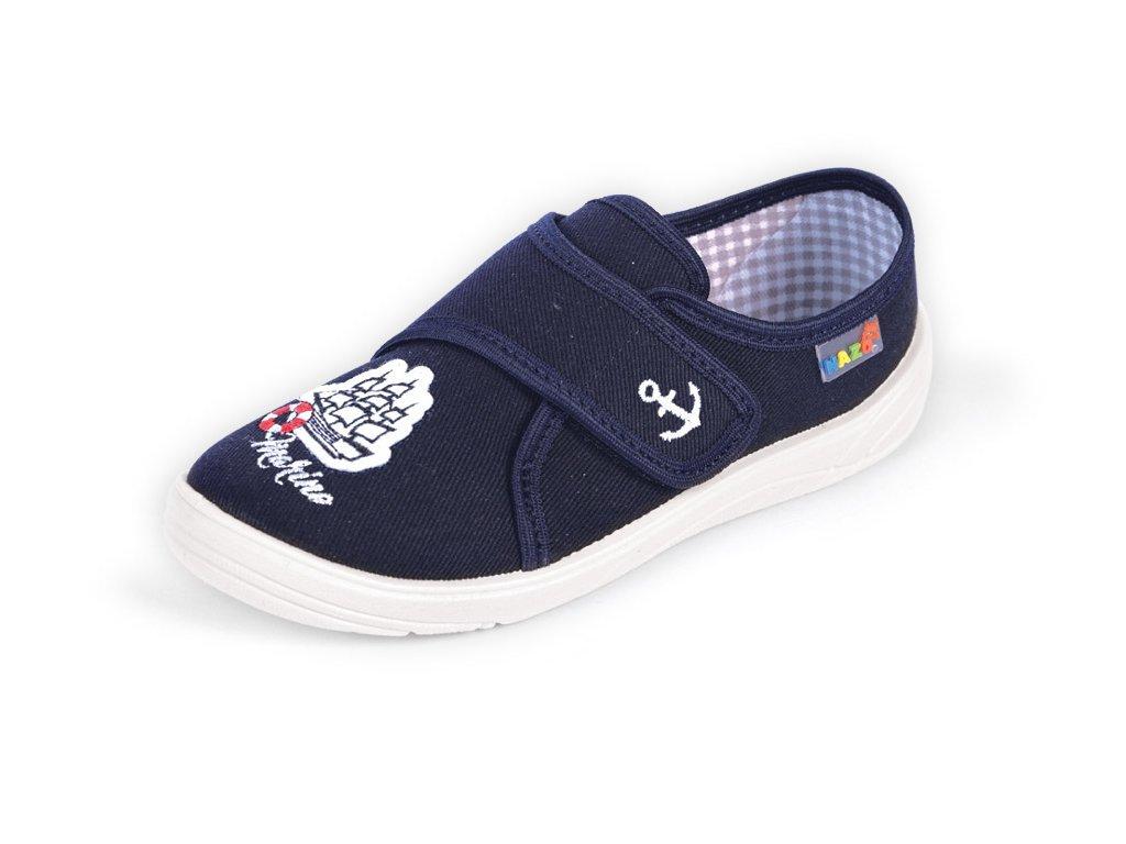 NAZO školní domácí obuv tmavě modrá Marine - ZDRAVÉ BOTIČKY c4b9da5f49
