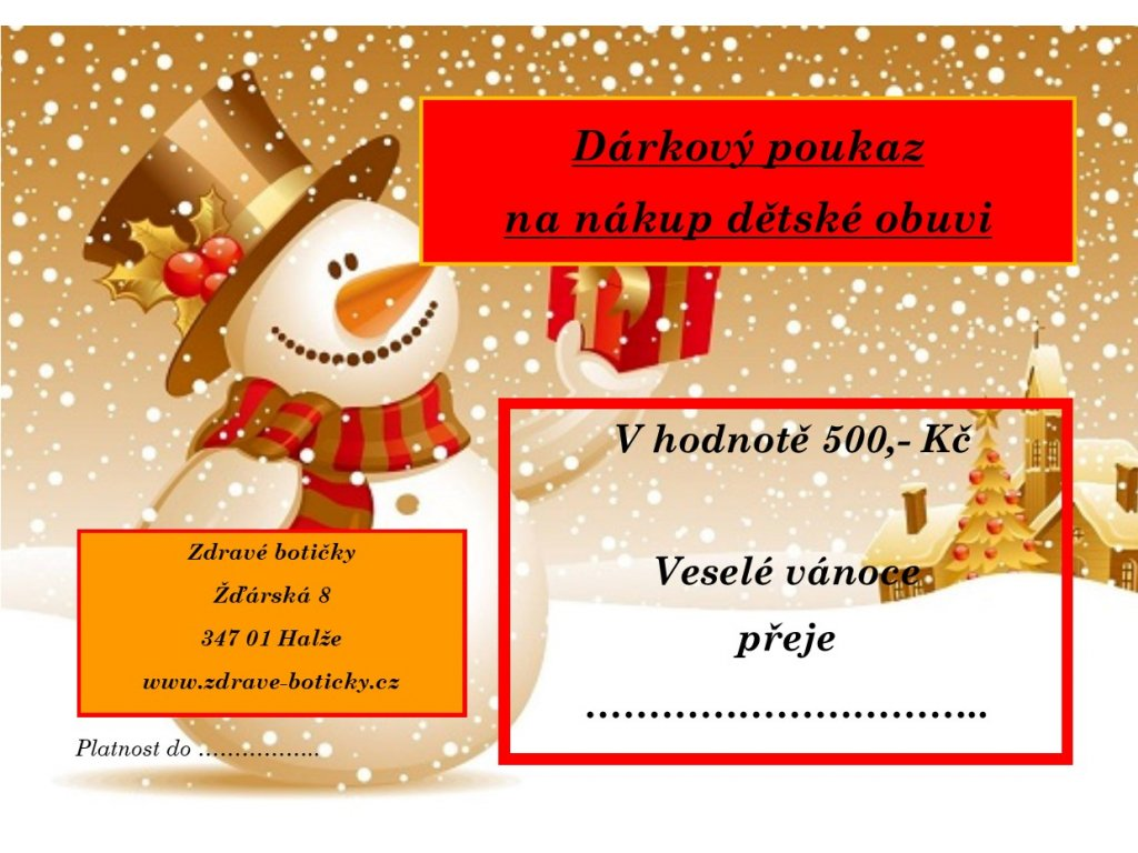 Dárkový poukaz Vánoce