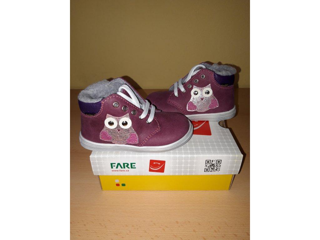 FARE dívčí zimní obuv 2142192 - ZDRAVÉ BOTIČKY 712d348818