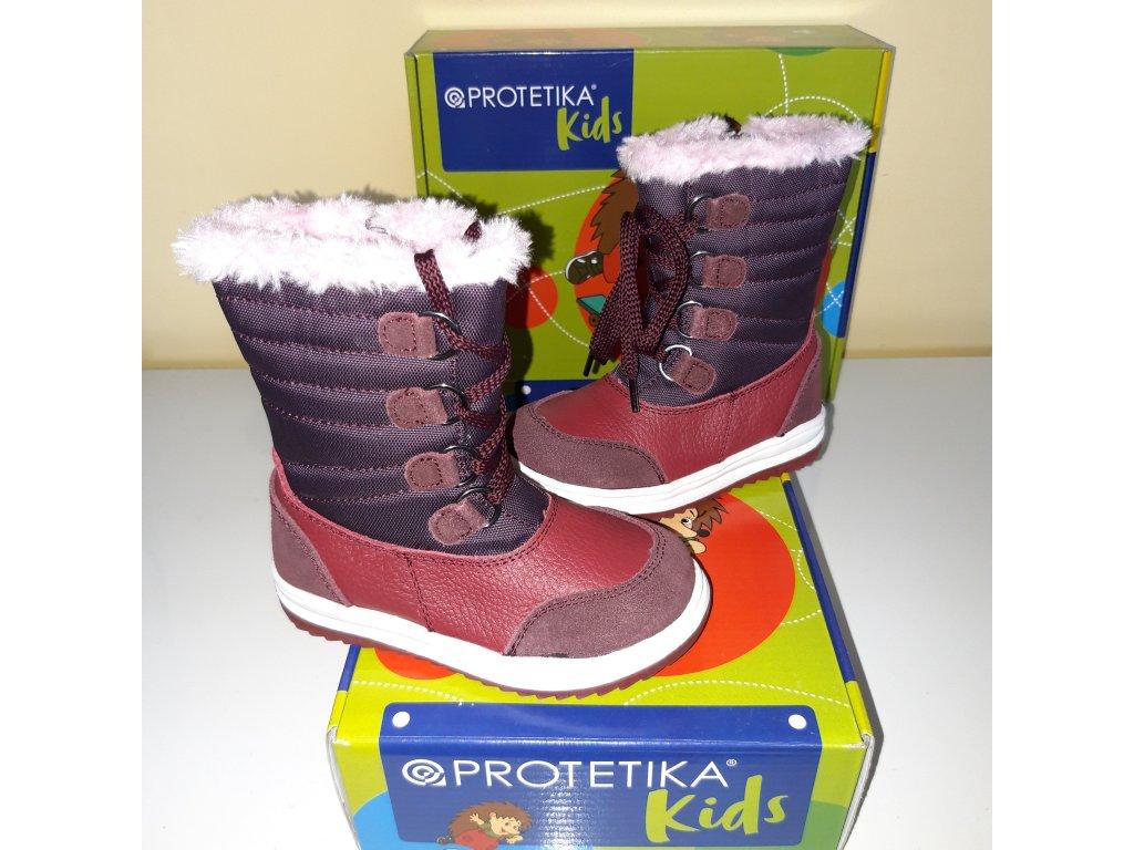 Protetika dívčí zimní obuv Jena bordo