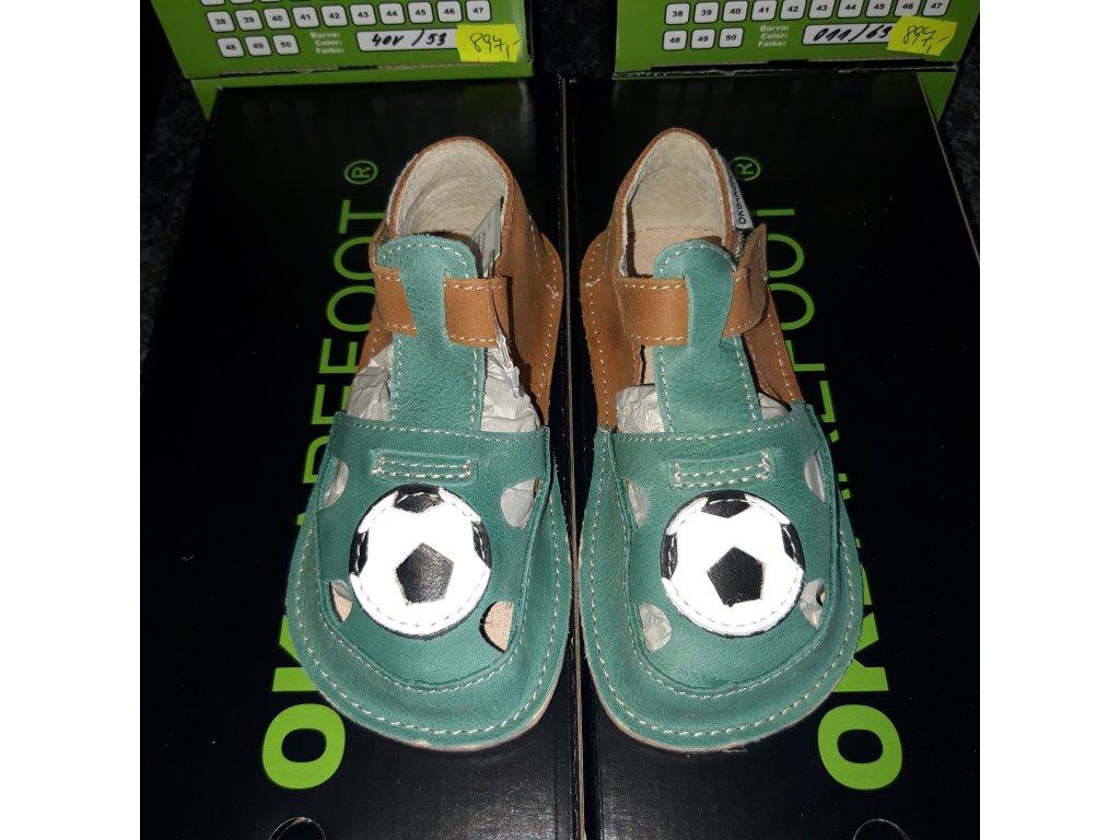 OKbarefoot chlapecké sandálky Ithaka V12 míč