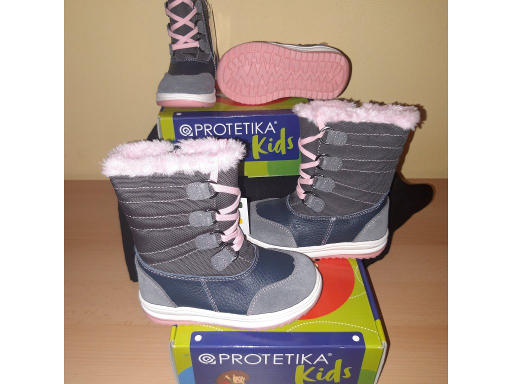 Protetika dívčí zimní obuv Jena grey