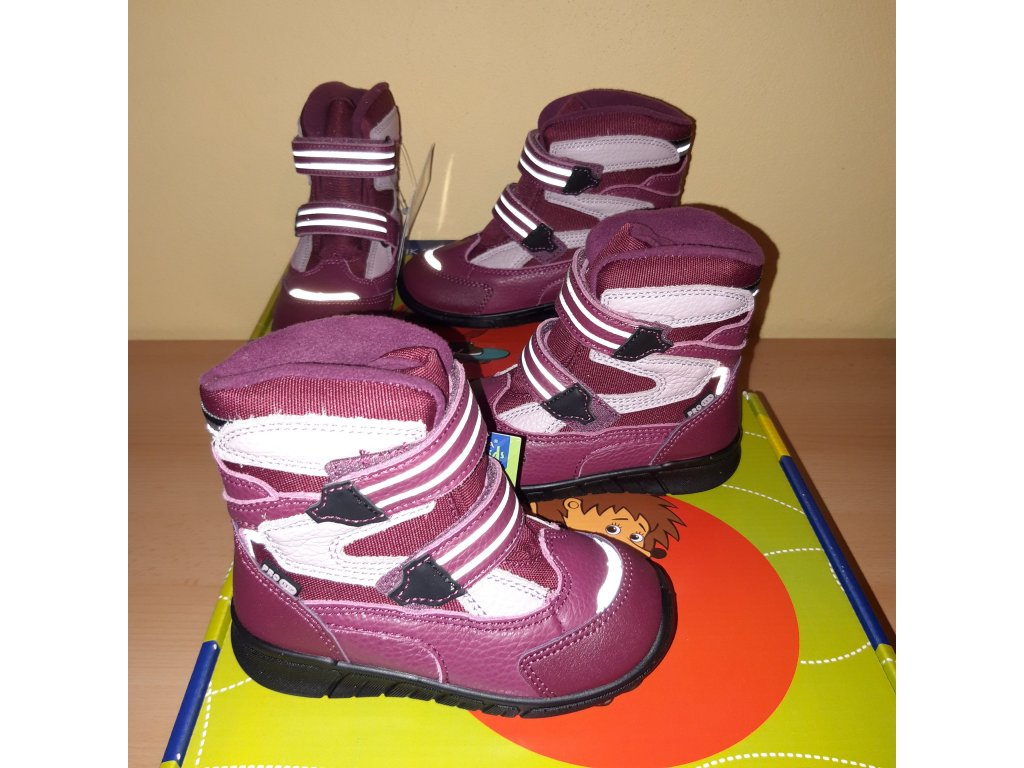 Protetika dívčí zimní obuv MARON fuxia PRO-tex