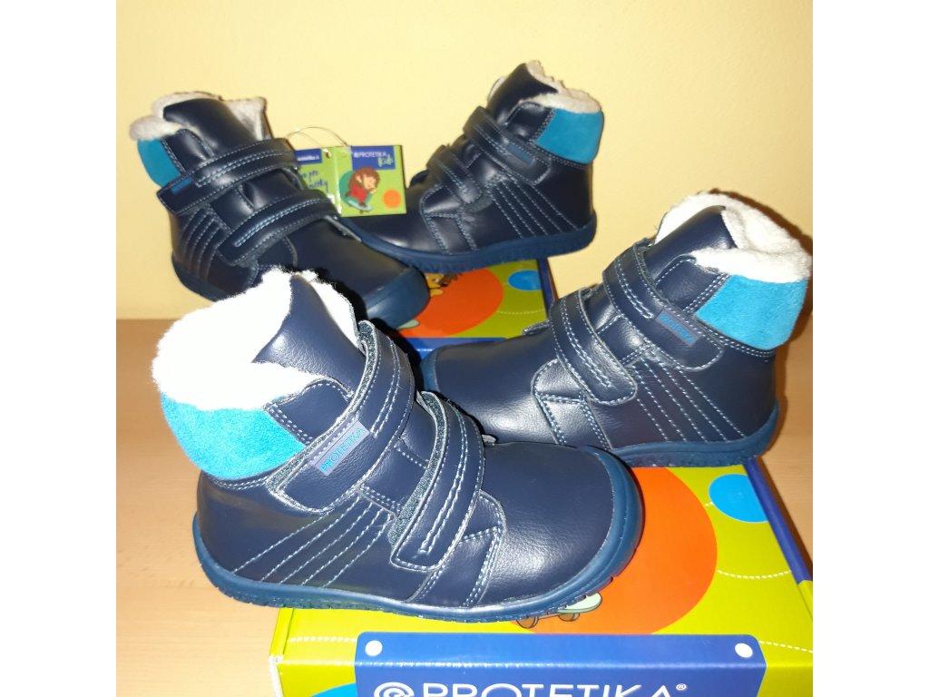 Protetika barefoot zimní obuv ARTIK blue