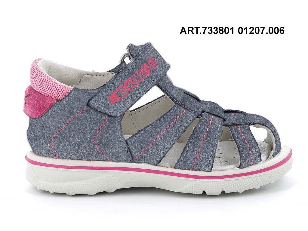 IMAC dívčí sandál Mini grigio/fucsia 733801