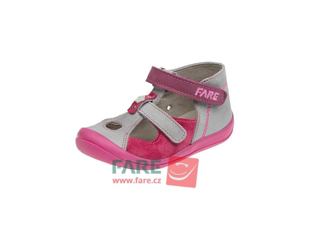 FARE dívčí kožené sandálky 867152