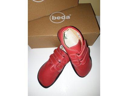 Beda barefoot kožená obuv červená