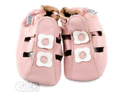 capáčky sandálky růžové 5