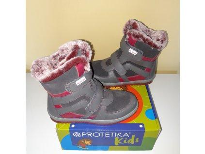 Protetika dívčí zimní obuv Melany Grey