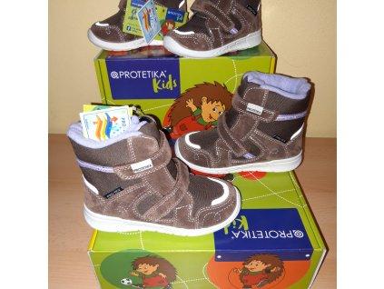 Protetika dívčí zimní obuv Deneris Brown PRO-tex