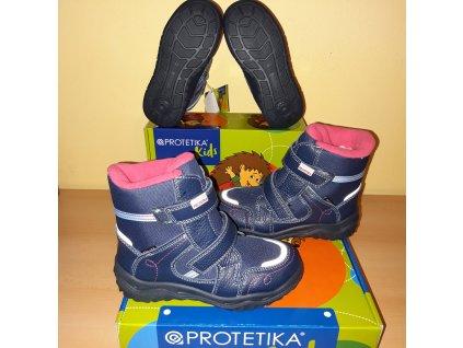 Protetika dívčí zimní obuv Deneris Navy PRO-tex